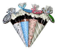 Hot Chocolate Cone Favors