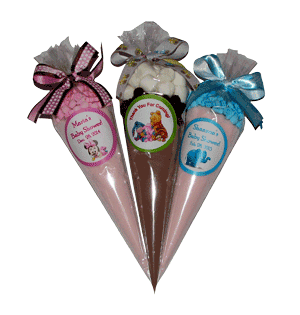 Lemonade Ice Tea Cone Favors