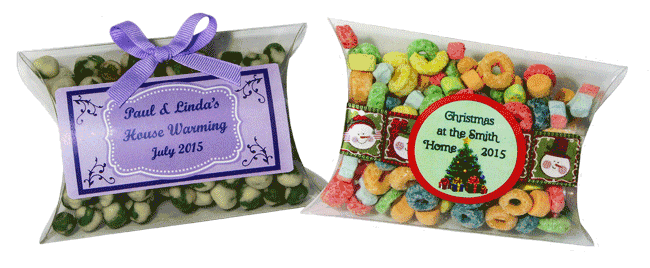 Holiday Candy Pillow Box Favors