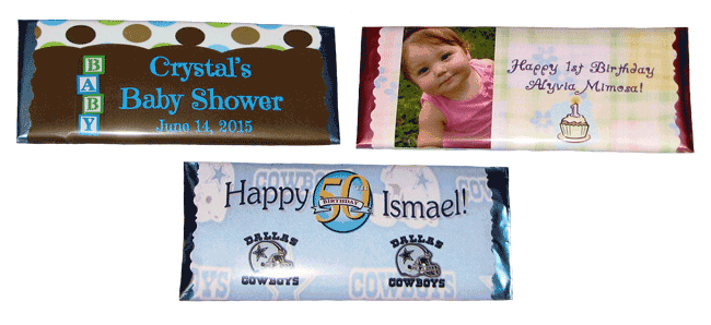 Personalized Candy Bar Favors